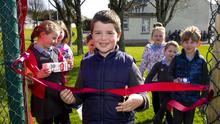 Conor Carthy cutting the ribbon. Photos: Mary Browne