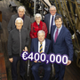 Minister Michael D'Arcy Jnr presenting €400,000 to Dunbrody Experience. Front: Walter O'Leary, Chairman Dunbrody Trust, Sean Connick CEO and Minister Michael D'Arcy Jnr. Back: George Walsh, Frances Ryan and Willie Fitzharris, board members