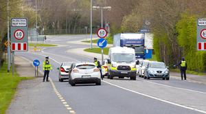Gardaí carrying out a Covid-19 checkpoint in New Ross