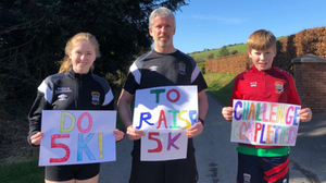 The Sullivan family togged out for a run in the 5k a day challenge