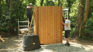 The new dry toilet at Tintern Woods.