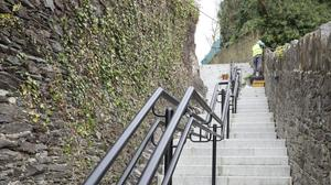 Ninety per cent of the steps on the route have been completed