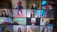 Students and teachers on the Grad Zoom call