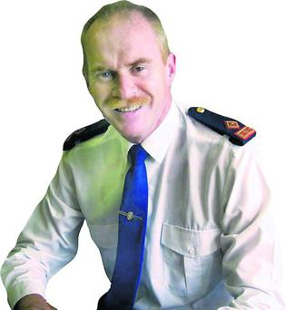 Superintendent John Roche pictured in Gorey garda station.