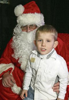 Santa with Jack St Ledger in Dermot Kehoe's last Saturday