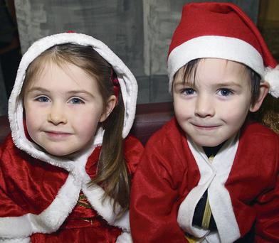 At the Horeswood Childcare Christmas Concert in Campile Hall last Thursday were Laura Power and Patrick Byrne