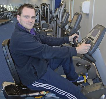 Duty manager Shane Edwards in the Apex leisure complex