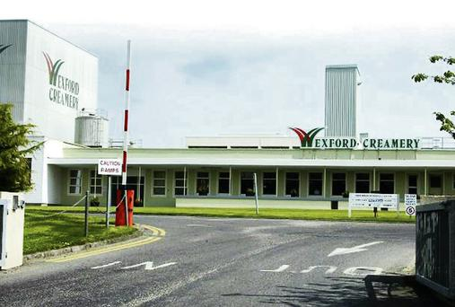The Wexford Creamery plant at Rocklands.