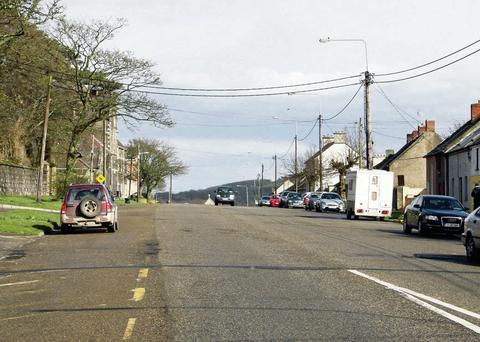 The town development plan includes a new ring road for the Irishtown, pictured, but this is now unlikely to be constructed for some time.