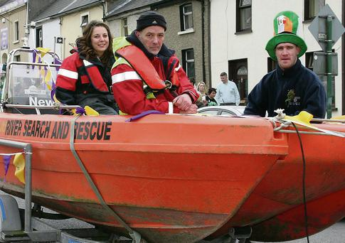 Members of New Ross River Search and Rescue in the New Ross parade.