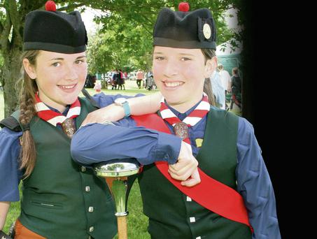 At the All Ireland Pipe Band Championships in New Ross Town Park last Saturday were Ciara Murray and Niamh Burke