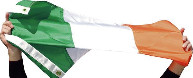 The green, white and orange is a flag we may all wrap around us in peace and pride