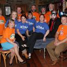 The participants of the charity beard and head shave in aid of the Jack and Jill Foundation and DEBRA, in Corcoran's the Irishtown