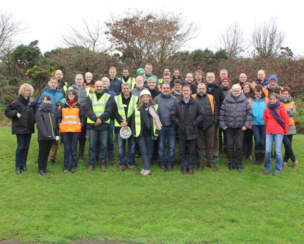 An international group of wood producers on a trip to the JFK Arboretum organised by the Irish Wood Producers Association