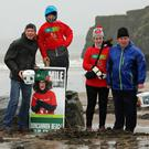 Helping out at the Goal Mile Challenge on Duncannon Beach on New Year's Day were Ken Deevy, Peter, Claire and Brian Stafford