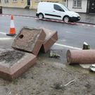 What remains of the Daubney Fountain from The Irishtown