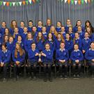 The Switzer Cup winning First Year Our Lady of Lourdes choir