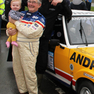 Russell Brookes with his granddaughter Orla and Pat Caulfield in New Ross last Sunday