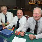 At the Table Quiz in aid of the RNLI in the Brandon House Hotel last Friday night were John Bennett, Anthony O Flynn and Trevor Campbell