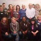 Some of the Community Voice group at the Horse & Hound on Thursday