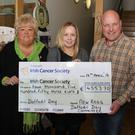 At a presentation in the Dunbrody Visitor Centre by members of the New Ross Daffodil Day Committee of a cheque for €4,553.70 to the Irish Cancer Society were: Ann Somers, committee member; Emma Hayden, Irish Cancer Society and Cllr Anthony Connick, committee member