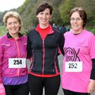 Taking part in the James Lawlor Memorial Race at the Pink Rock on Friday were Brid Lawlor, Siobhan Mullally and Adrienne Flynn