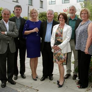 Tom Morrissey, Fr Tom Dalton, Catherine Jordan, Ger Colfer, Mary Moran, John Nolan, Joan Etchingham and Jim McGillicuddy who were all instrumental in the fundraising for Nepal