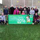 Kilkenny hurler Richie Power with Rathgarogue-Cushinstown club members at the Fit(Ish) Family launch