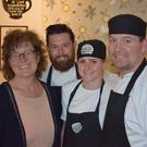 Mindy O'Brien, of VOICE, and chefs Lee, Siobhan and 'Rocky' at D'Lush Cafe