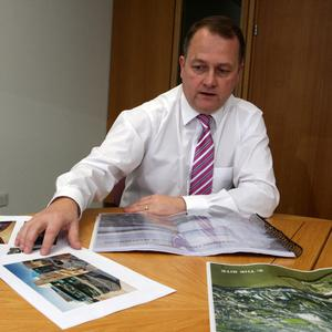Wexford County Council CEO Tom Enright outlining the plan for Trinity Wharf in Wexford earlier this year