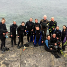 The snorkelling group setting out