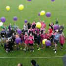 Wexford Ladies Football Club set a new world record for most players taking part in exhibition match on Monday on the Sarsfields pitch in Pairc Charman. The record was broken at seven minutes past two in the afternoon