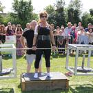 Competing in the strongest woman competition in New Ross Town Park last Sunday was Rita Martin