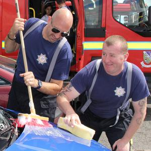 Firemen Dean Mills and Andrew Walsh