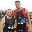 Colm McCormick and Niall Breslin taking part in last year's Tri-the-Hook