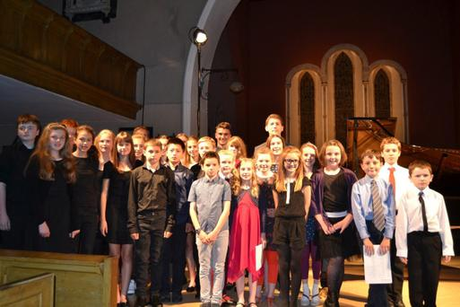 Some of the students performing at New Ross Piano Festival