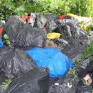 The bags of rubbish dumped in The Maudlins last week