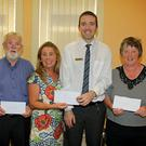 Credit Union draw winners - At a presentation in New Ross Credit Union to the winners of the draw for the month of August were Thomas Keogh, Duncannon €1,000 winner; Sinead Aspel, Woodland Grove €4,000 winner; Shane Roche, New Ross Credit Union and Jane Purcell, Pondsfield €1,000 winner
