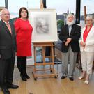 At the launch of the Silent Tide at Ross in the Dunbrody Visitor Centre in aid of New Ross Community Hospital were James Ryan fundraising committee, Laura Collins director of nursing at New Ross Community Hospital, artist Danny Brennan and Frances Ryan chairperson of the hospital board