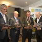 John McSweeney, vice president, New Ross & District Chamber of Commerce; Tom Banville, head of Enterprise Wexford; Michael Whelan, chairperson New Ross Municipal District Council; Sean Gallagher and Niall Bennett, president, New Ross & District Chamber of Commerce