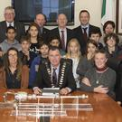 Students from Moncoutant, France who were awarded a civic reception during their time at the CBS secondary school