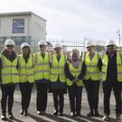 Staff from the senior primary school in New Ross went on site to view the new school being built in the Maudlins