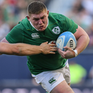 Tadhg Furlong in action against the All Blacks on Saturday in Chicago