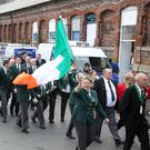 Members of the Irish team on parade during the opening of the World Shore Angling Championships