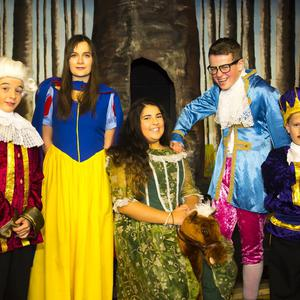 At the rehearsals for the Rathnure pantomime 'Reddest of them All' were cast members Denis Lambert as the Prince, Sinead Doyle as Snow White, Eva Greene as Queen, Ronan Cloney as Bartholomew and Ian Reilly as the King