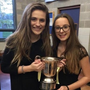 Ceris Browne and Caoimhe Duggan with The Potterton Heatquip Cup