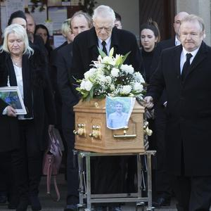 The funeral of Tony Egan in Clongeen on Monday