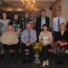 A presentation at the Horse and Hound from Kennedy College staff to Pat Lynch on his retirement from the school