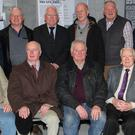 Wexford Lighthouse Keepers (from left) back - Tux Tweedy, Billy Walsh, Kieran Roche, Frank Kelly, Michael Murphy, John Busher and Brian Kelly of Irish Lights; front - James Wickham, Ray Wickham, Nicholas Tweedy, Tom O'Keeffe and Yvonne Shields of Irish Lights who opened the exhibition