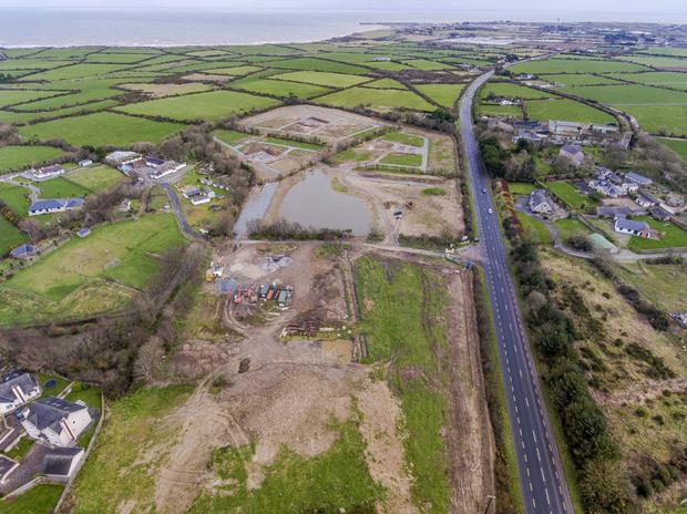 An aerial view of the site off the N25 Wexford to Rosslare road